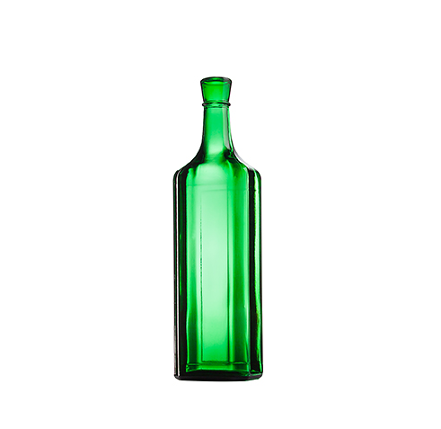 Стеклянная бутылка для вина, цвет зеленый, 750 ml, Special finish