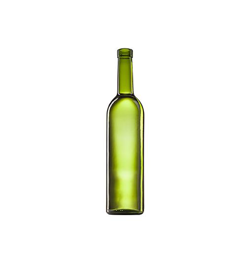 Стеклянная бутылка для вина 750 ml, Bartop, цвет кюве