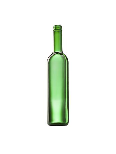 Стеклянная бутылка для вина 700 ml, Cork, цвет зеленый