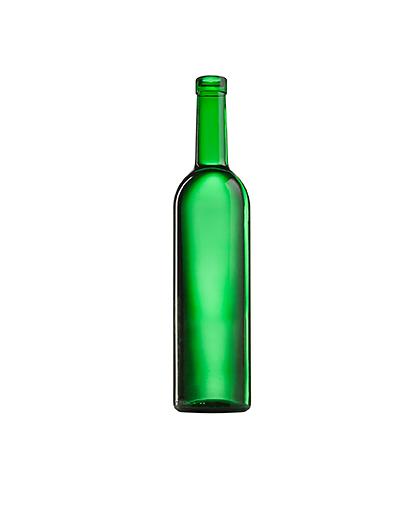 Стеклянная бутылка для вина зеленая 750 ml, Cork