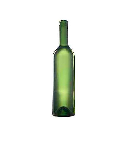 Стеклянная бутылка для вина 750 ml, Bartop, оливкового цвета