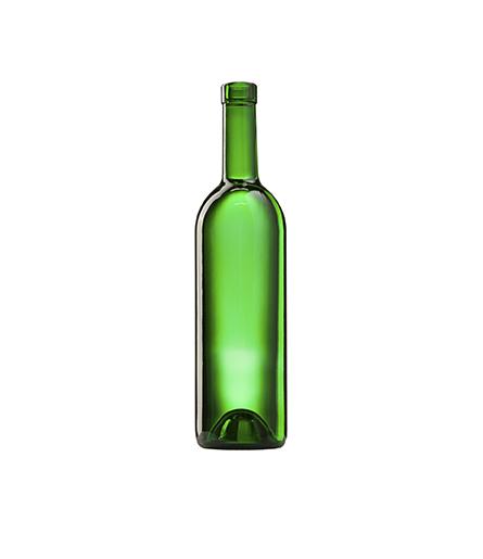 Стеклянная бутылка для вина, цвет зеленый 750 ml, Bartop