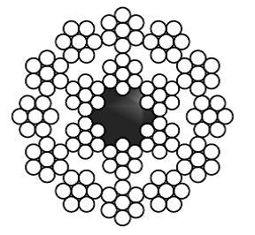 КАНАТ СТАЛЬНОЙ МАЛОКРУТЯЩИЙСЯ STS 3069.1  18x7(1+6)+FC