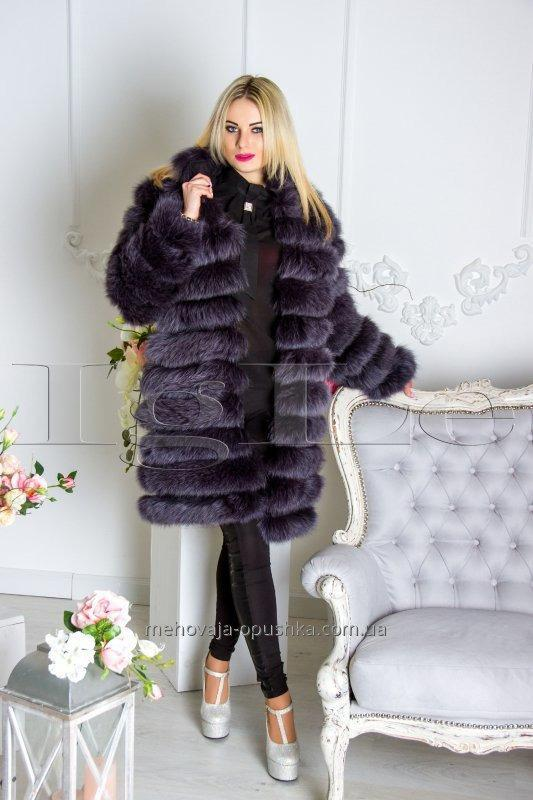 007 A fur coat from tails of a polar fox