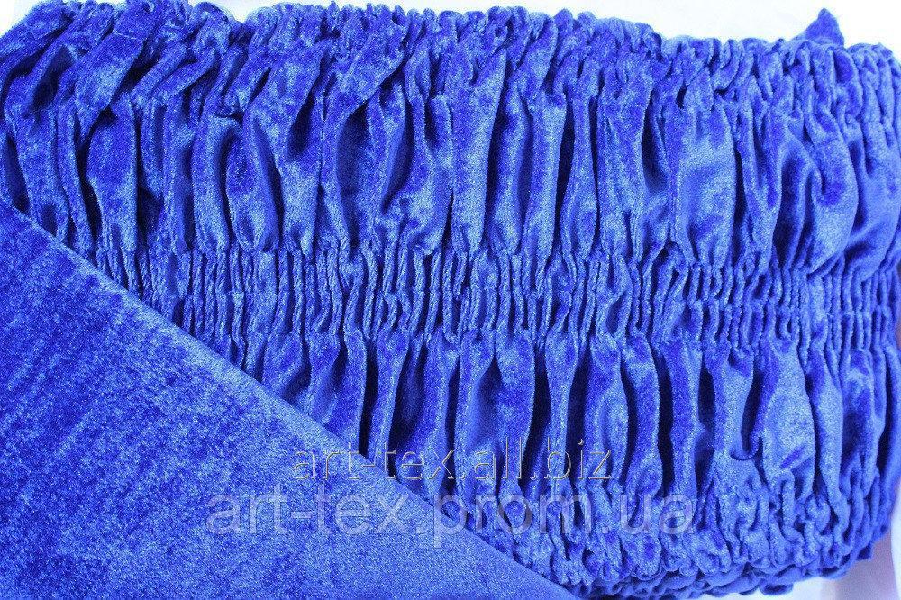 Обивка для гроба стрейч-велюр (О3) синий электрик