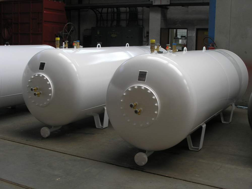 The equipment for a liquefied gas (propane-butane), bus stations