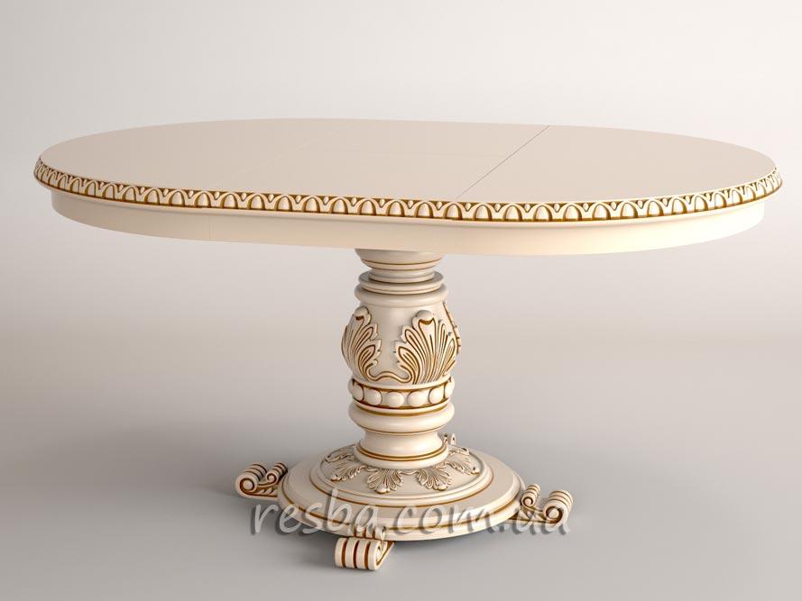 Купить  Круглый стол в гостиную раскладной на 4/6 персон Tb07