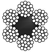 КАНАТ СТАЛЬНОЙ  STS 3057.1 6х25(1+6;6В+12)F+FC