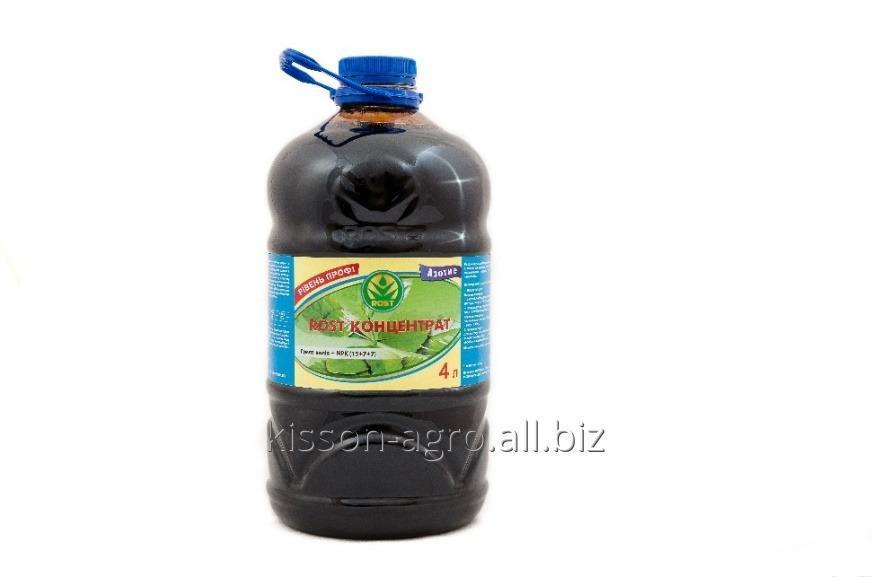 Удобрение ROST®-КОНЦЕНТРАТ 15:7:7. ПЭТ бутылка - 4л. Органоминеральное удобрение на основе гумата калия, обогащенное NPK