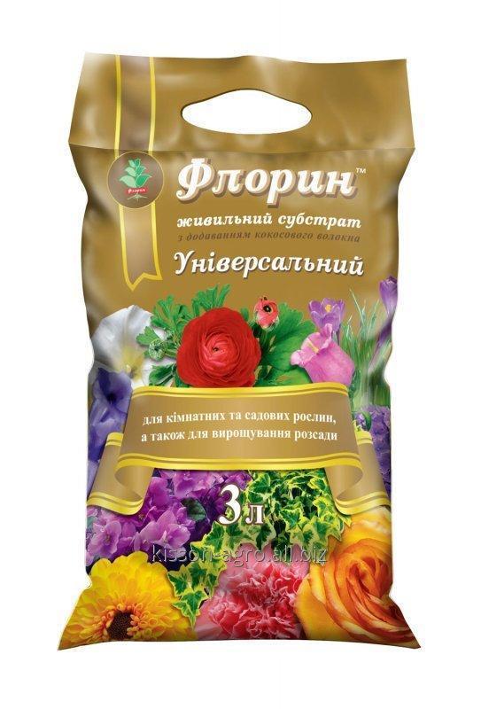 """Торфяной субстрат Универсальный """"ТМ Флорин"""". Фасовка - 3 литра. Для всех видов комнатных и садовых растений."""