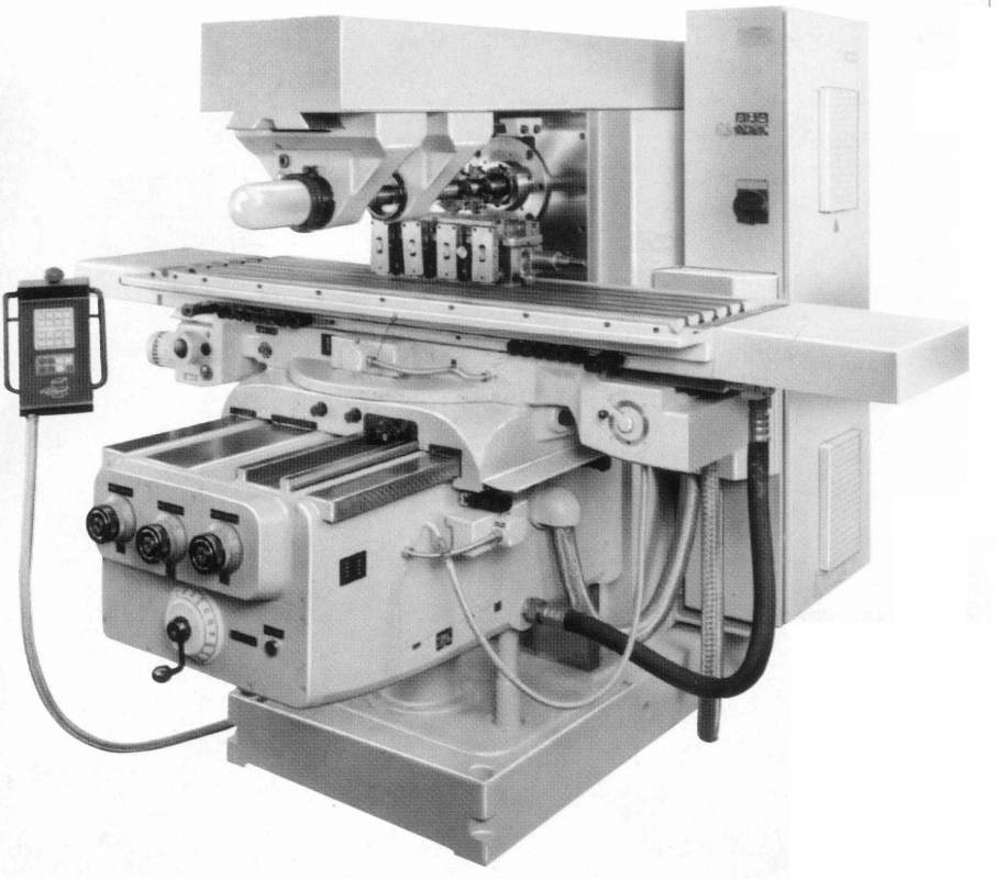 Горизонтальный консольно-фрезерный станок FU450MR (аналог 6Т83) позволяет вести обработку деталей из стали и чугуна в автоматических циклах горизонтально закрепленными фрезами и дисковыми фрезами, закрепленными на оправке