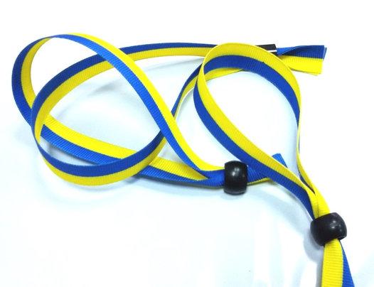 Тканевый браслет Woven-15-braid, ширина 1,5 см, флаг Украины