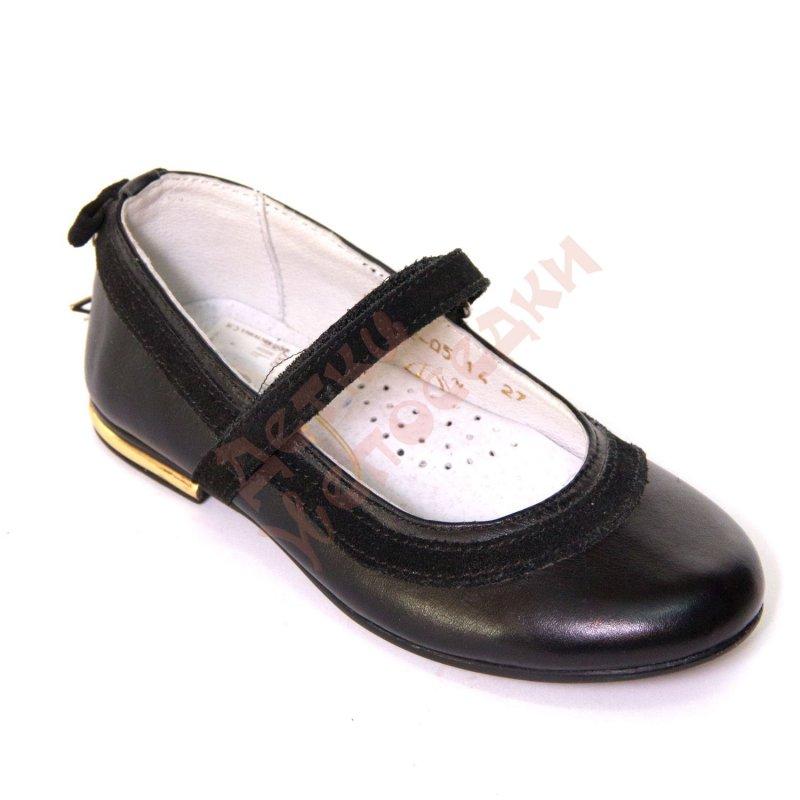 Купить Туфли школьные для девочки на липучке Звезда Palaris, белый, 27, 27-31, 27