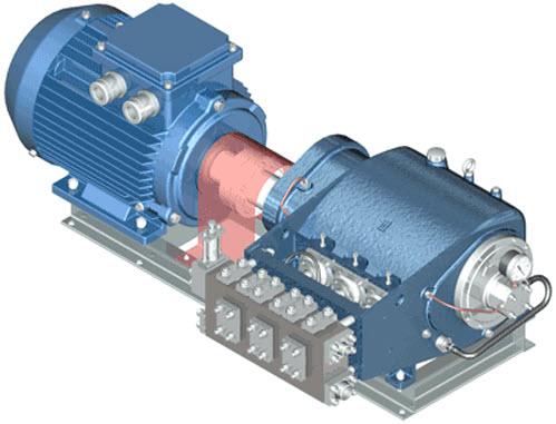 Трехплунжерный насос высокого давления 1.1ПТ- 2,5/8Д1-А3-М2