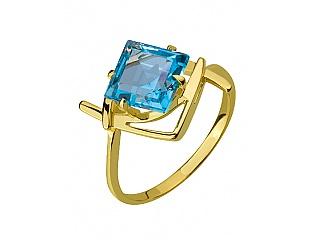 Купить Золотое кольцо 585 пробы с топазом ,Артикул 01-16318077 ,Модель 3-к-1560/15