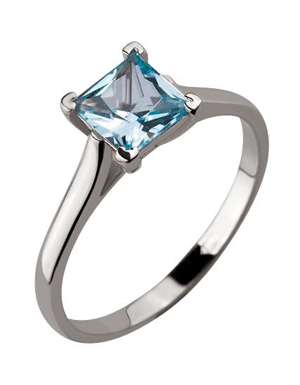 Купить Золотое кольцо 585 пробы с топазом, артикул 15-000082467