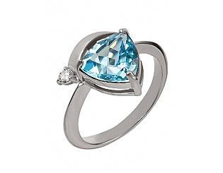 Купить Золотое кольцо 585 пробы с топазом и бриллиантом ,Артикул 15-000053456 ,Модель 2к-245/59