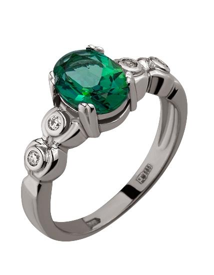 Купить Золотое кольцо 585 пробы с топазом и фианитами, артикул 15-000077340