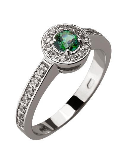 Купить Золотое кольцо 585 пробы с топазом и фианитами, артикул 15-000080267