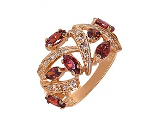 Купить Золотое кольцо 585 пробы с фианитами ,Артикул 01-13116854 ,Модель м-01-13116854