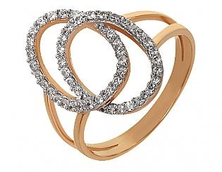 Купить Золотое кольцо 585 пробы с фианитами ,Артикул 01-13907901 ,Модель м-01-13907901