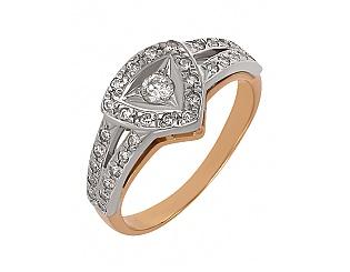 Купить Золотое кольцо 585 пробы с фианитами ,Артикул 01-13939790 ,Модель м-01-13939790