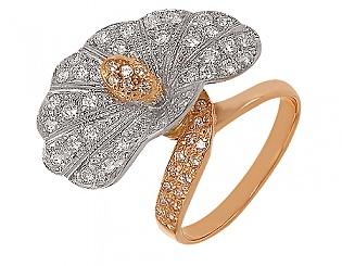 Купить Золотое кольцо 585 пробы с фианитами ,Артикул 01-14033995 ,Модель м-01-14033995