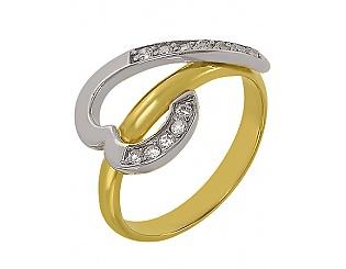 Купить Золотое кольцо 585 пробы с фианитами ,Артикул 01-14035866 ,Модель м-01-14035866
