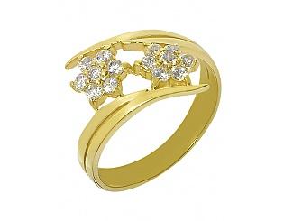 Купить Золотое кольцо 585 пробы с фианитами ,Артикул 01-14603251 ,Модель 3-к-2/60