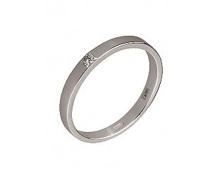 Купить Золотое обручальное кольцо 585 пробы с бриллиантом ,Артикул 15-000066408 ,Модель 2к-282/26