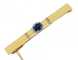 Kup teď Zlatá spona z 585 zlata s diamanty a safíry, číslo dílu 01-14699498, model m-01-14699498