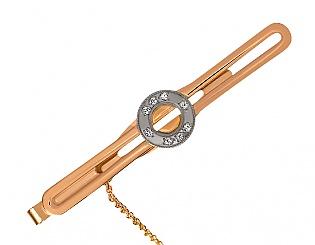 Kup teď Zlatá spona z 585 zlata s cubic zirkonia, výrobní číslo 01-15187484, model m-01-15187484