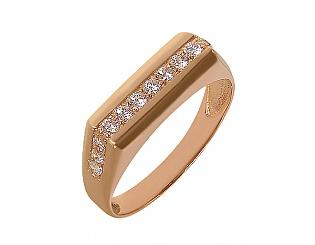 Купить Золотой перстень 585 пробы с фианитами ,Артикул 01-13272996 ,Модель м-01-13272996