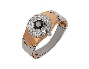Купить Золотой перстень 585 пробы с фианитами ,Артикул 01-13343689 ,Модель м-01-13343689