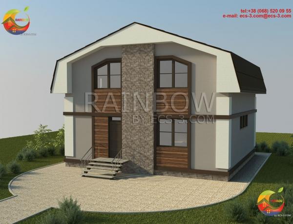 Двухэтажный Жилой Дом 155 м²