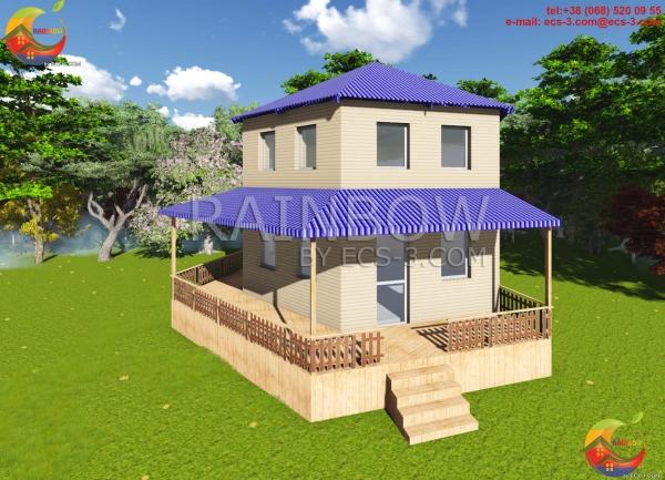 Жилой Двухэтажный Дом 104 м²
