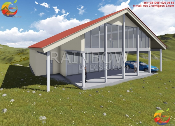 Двухэтажный коттедж с гаражом 357 м²