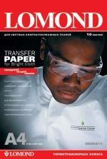 Термотрансферная бумага Lomond для светлых тканей, A4, 140 г/м2, 10 листов, код 808411