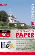 Термотрансфер Lomond для лазерной печати, для твёрдых поверхностей, А4, 50 листов, код 0807435