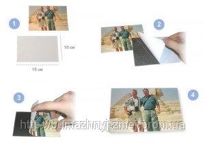 Магнитный винил для офсетной печати, поверхность - арт-бумага, м.пог. - 620х0,38мм