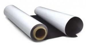 Магнитный винил для УФ, печати, полуглянцевый, водоотталкивающее покрытие, антикоррозийный, м.пог. - 1260х0,22мм