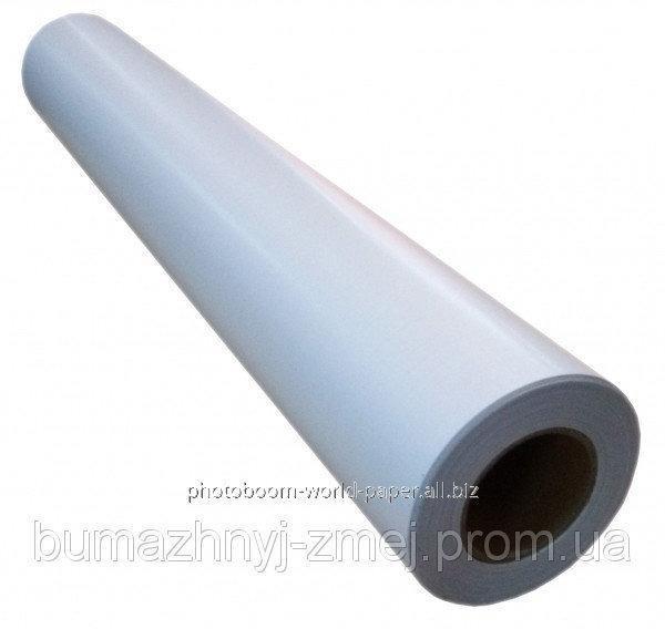Широкоформатная глянцевая пленка для холодной ламинации, 140 г/м2, 1270мм х 50метров, код LAM-140G-1270