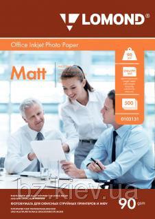 Односторонняя матовая фотобумага для струйной печати, A4, 90 г/м2, 500 листов, код 0102131