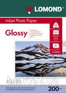 Односторонняя глянцевая фотобумага для струйной печати, A3, 200 г/м2, 50 листов, код 0102024