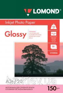 Односторонняя глянцевая фотобумага для струйной печати A3+, 150 г/м2, 20 листов, код 0102026