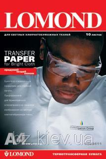 Термотрансферная бумага Lomond для светлых тканей, A4, 140 г/м2, 10 листов, код 0808411