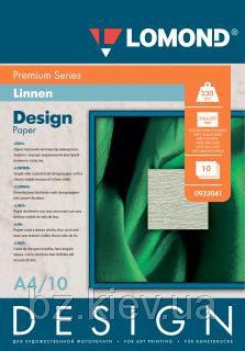 Односторонняя матовая дизайнерская фотобумага Лён, A4, 230 г/м2, 10 листов, код 933041