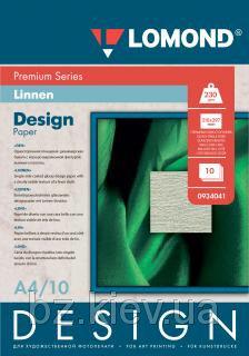 Односторонняя глянцевая дизайнерская фотобумага Лён, A4, 230 г/м2, 10 листов, код 934041