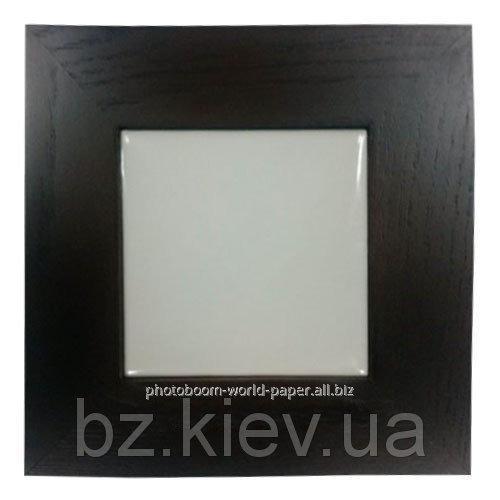 Плитка керамическая в рамке из натурального дерева (10х10 см), код GRW16.01.012/UA