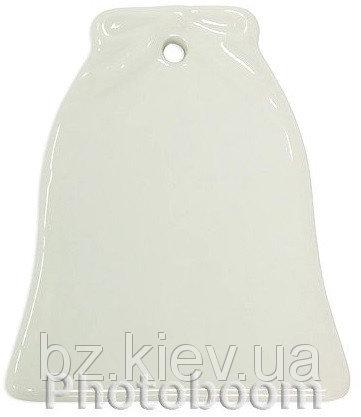 Керамический кулон для сублимации в форме Колокольчик, код GRW07.02.024/LCH